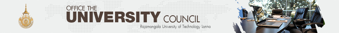 Website logo Admission and election of University Council faculty members | Council of Rajamangala University of Technology Lanna